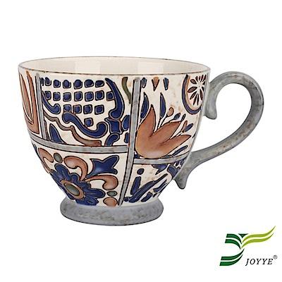 JOYYE陶瓷餐具 花如玉手繪C把杯-G