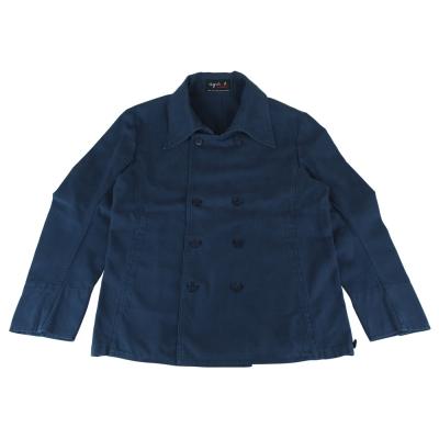 AgnesB. 軍裝釦式外套(男/藍)