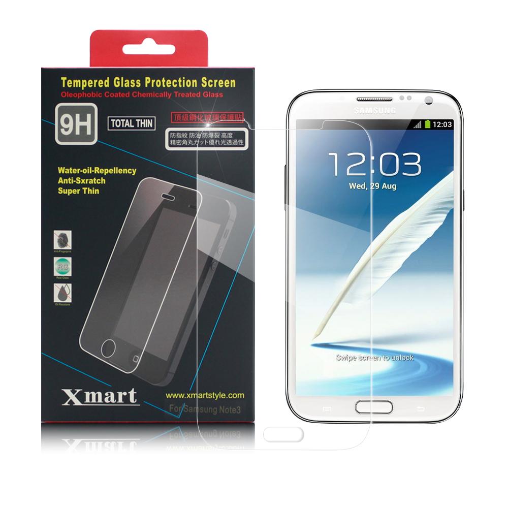 X mart 三星GALAXY Not2 N7100強化0.26mm耐磨防指紋玻璃保護貼
