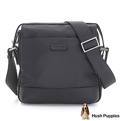 Hush Puppies GRAYSON 休閒側背包-黑