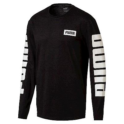 PUMA-男性基本系列Rebel長薄T恤-黑色-亞規