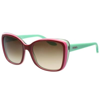 MAX&CO. 時尚太陽眼鏡 (暗紅色)