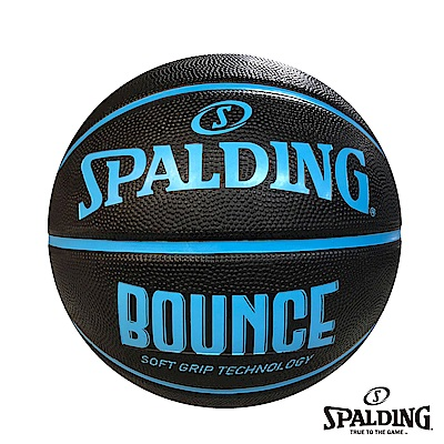 SPALDING 斯伯丁 Bounce籃球 黑/藍 橡膠7號