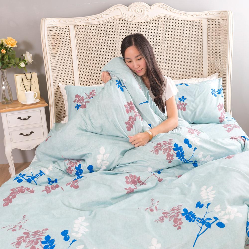 吸濕排汗系列SG 使用3M藥劑處理細緻柔絲綿 雙人床罩兩用被六件組 絮亂心