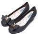 DIANA 漫步雲端雨滴款--甜美蝴蝶結果凍楔型雨鞋-石墨黑 product thumbnail 1
