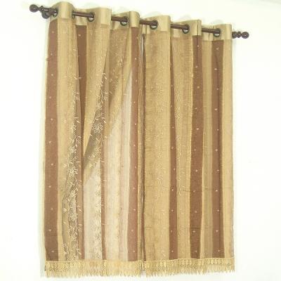 布安於室-太園緹花雙層金屬環窗簾
