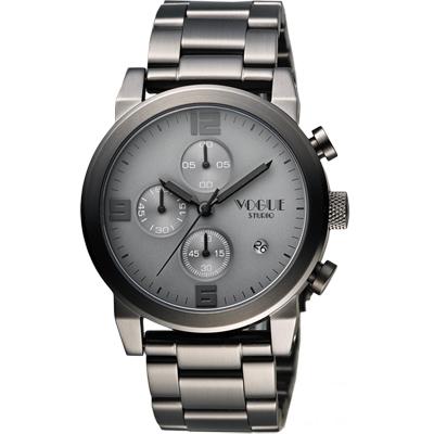 VOGUE 嶄新系列品味計時腕錶-鐵灰/42mm