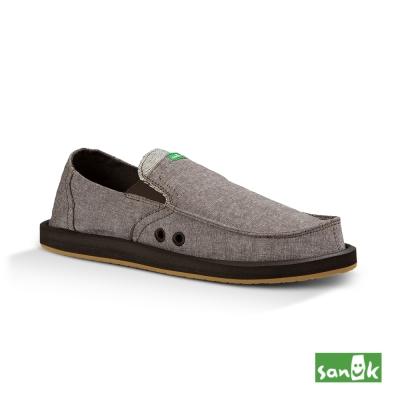 SANUK 口袋TX系列懶人鞋-男款(咖啡色)