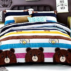 Grace Life 樂叮 單人法蘭絨被套毯鋪棉床包三件組