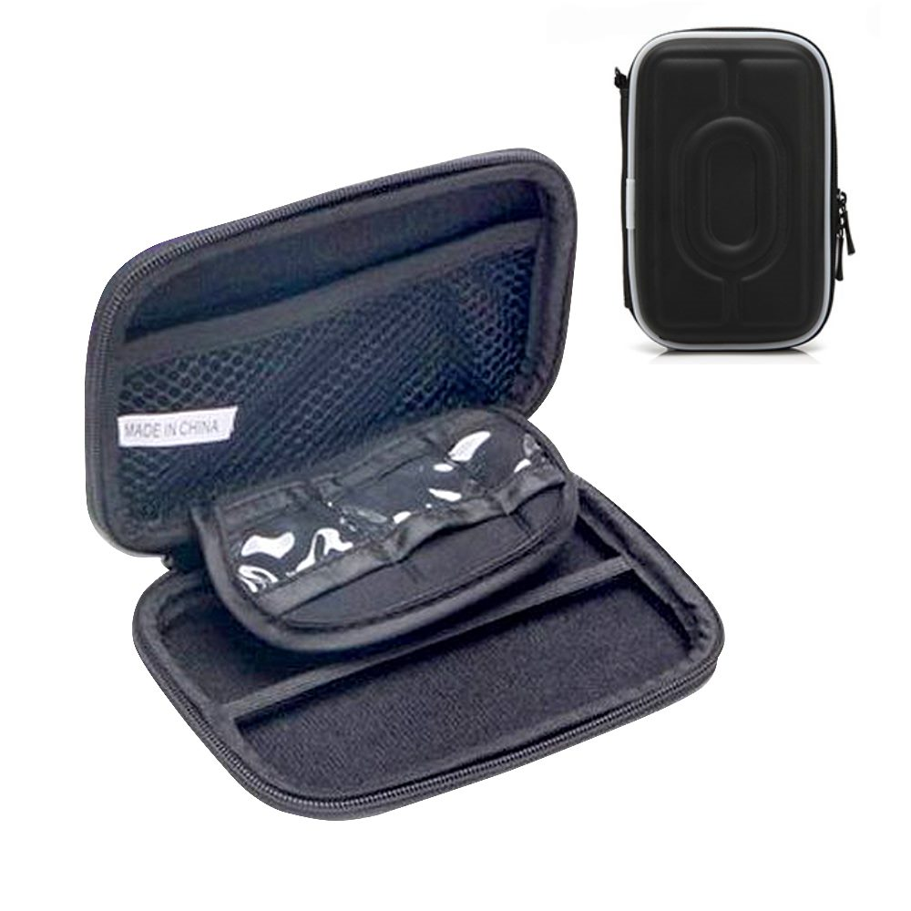 DataStone 3C多功能防震硬殼收納包(適2.5吋硬碟/行動電源//3C產品)-黑色