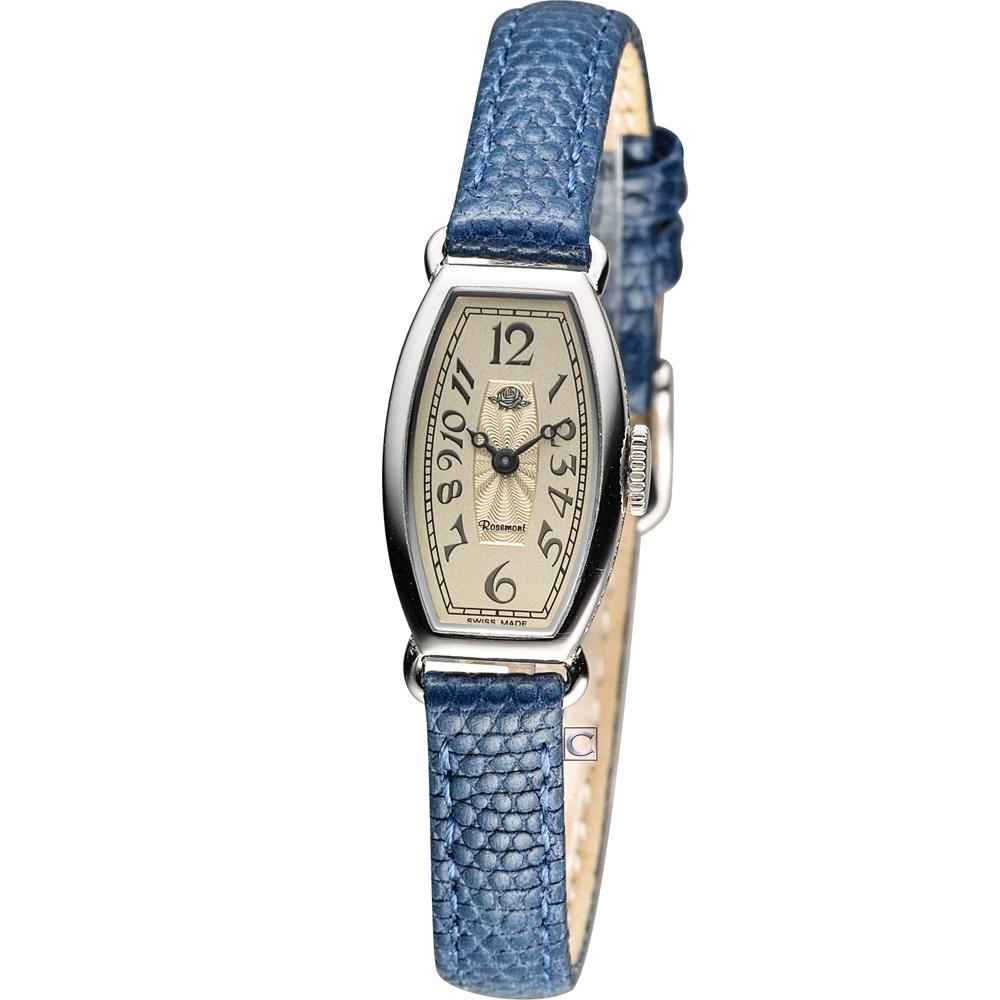 Rosemont 玫瑰皇后時尚錶-深藍/15x24mm