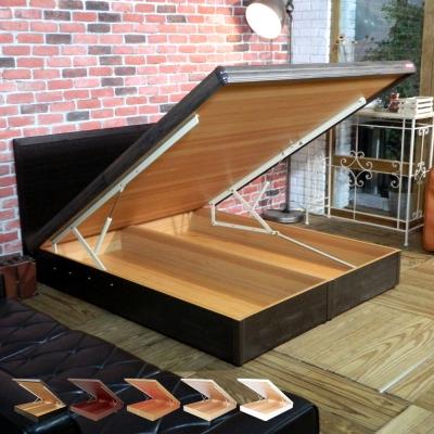 時尚屋 格頓6尺寬版尾掀加大雙人床+安全扣 五色可選-免組