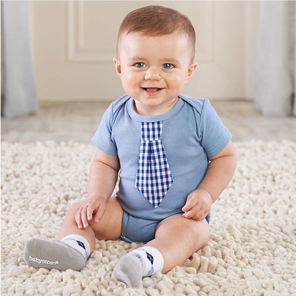 Baby Aspen 經典格紋包屁衣襪子彌月禮組