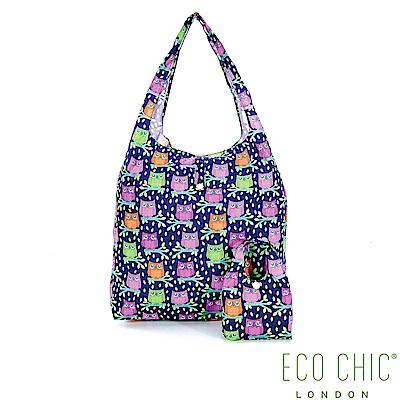 英國ECO CHIC折疊購物袋-貓頭鷹