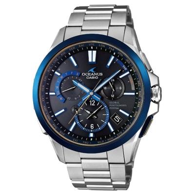 OCEANUS極致完美躍動GPS電波頂級腕錶(OCW-G1100TG-1)藍框46.1mm
