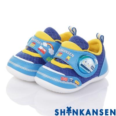 新幹線 輕量透氣抗菌防臭學步電燈童鞋-藍(12.5-15.5cm)