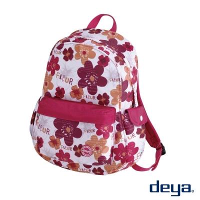 deya 法朵紅系列  防潑水經典後背包  法朵紅