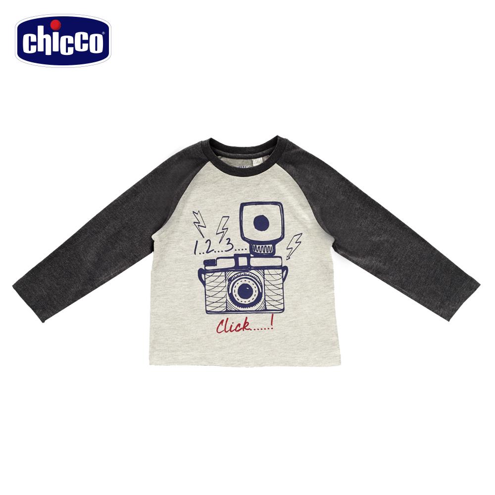 chicco音樂長袖上衣-灰(18個月-4歲)