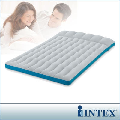 INTEX 雙人野營充氣床墊(車中床)-寬127cm (灰藍色) (67999)