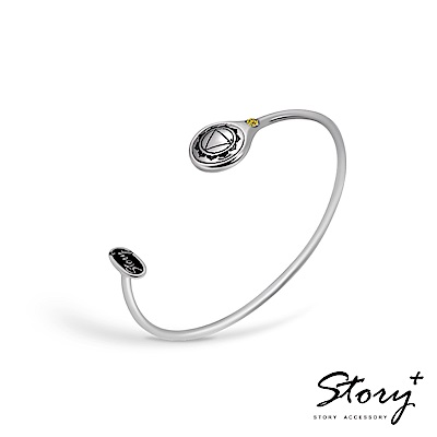 STORY-脈輪系列-太陽輪Solar Chakra純銀手環
