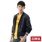 EDWIN 外套 提織迷彩風衣外套-男-丈青