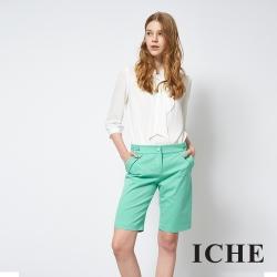ICHE 衣哲 時尚簡約亮眼百搭造型及膝馬褲