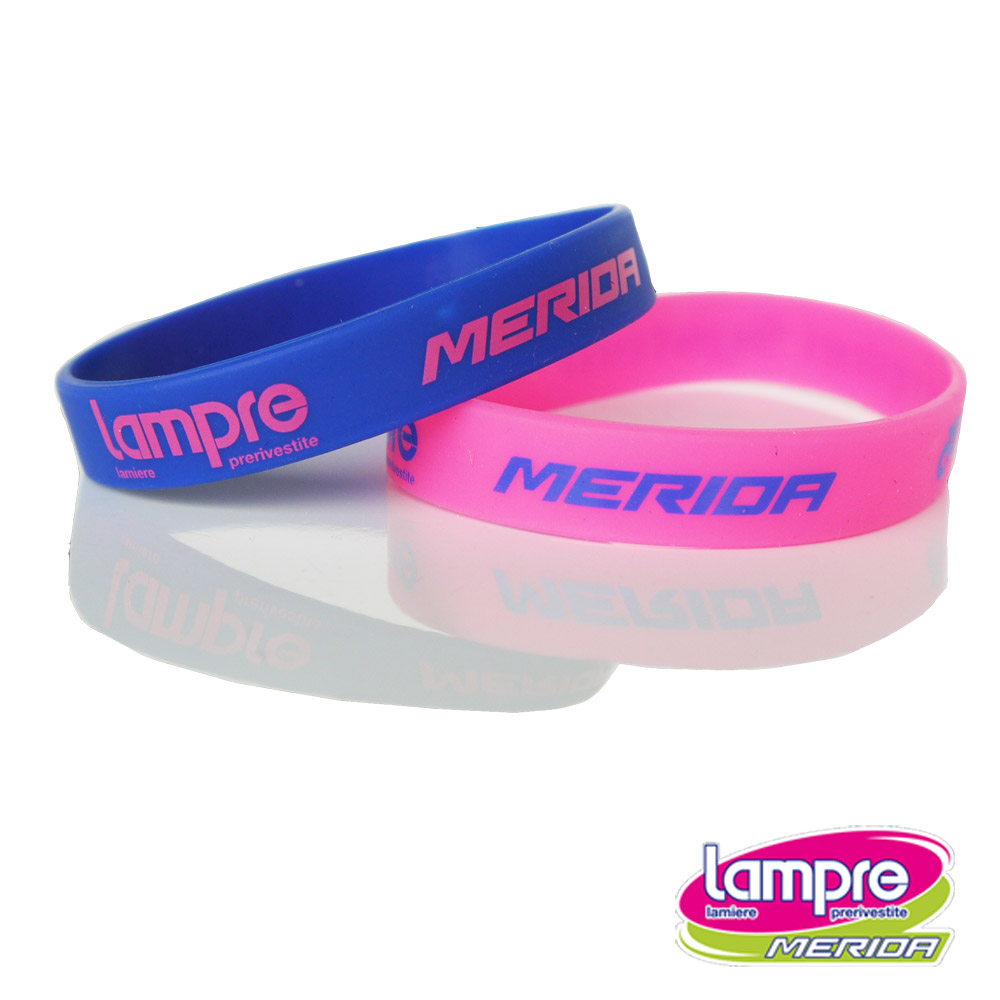 《LAMPRE-MERIDA》美利達藍波車隊版橡膠腕帶