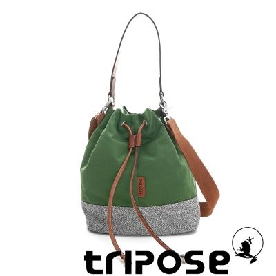tripose 漫遊系列岩紋玩色束口水桶包 草地綠
