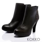KOKKO真皮鉚釘短靴