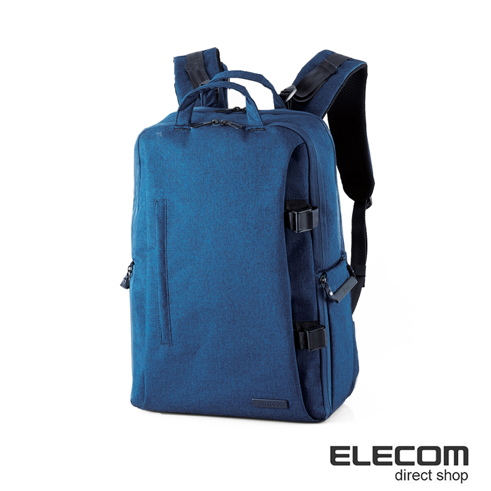 ELECOM 帆布多功能質感後背包(L)S037-藍