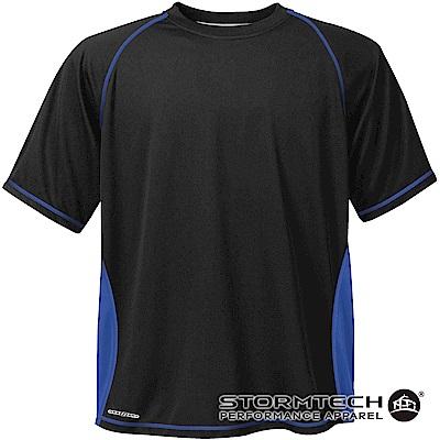 【加拿大STORMTECH】H2X排汗透氣耐久TEE-SAT037男-黑藍