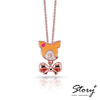 STORY ACCESSORY-哈妮鹿 可愛甜美琺瑯純銀項鍊