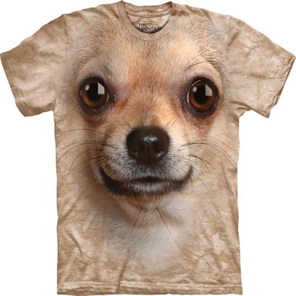 摩達客-美國The Mountain吉娃娃犬臉 兒童版純棉環保短袖T恤