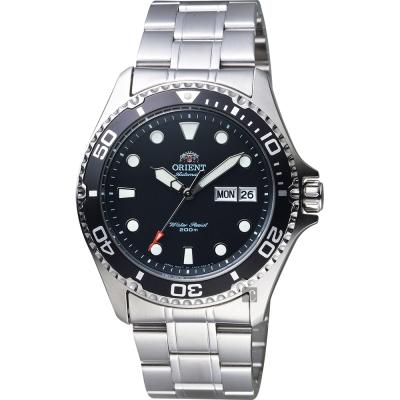 ORIENT東方 Sport 運動潛水200米機械錶-黑x銀/41mm