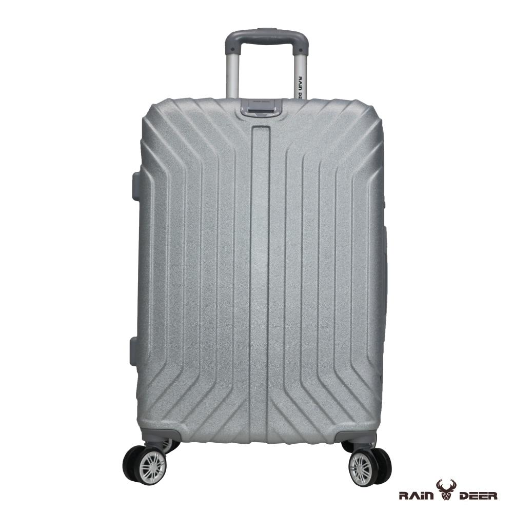 RAIN DEER 創世紀28吋耐磨防刮電子紋行李箱-鈦金銀