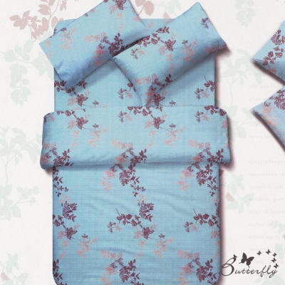 BUTTERFLY-台灣製造 柔絲絨薄式 雙人6x7被套-飄絮