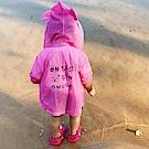 Baby unicorn 桃紅字母耳朵連帽防曬薄外套