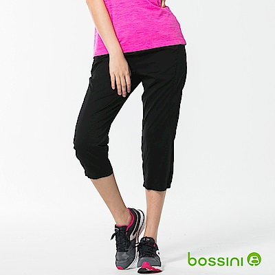 bossini女裝-速乾七分長褲01黑