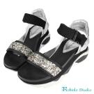 Robinlo&Co. 率性金屬感格麗特厚底涼鞋 銀