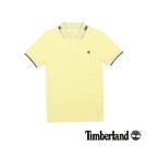 Timberland 男款鵝黃色純棉透氣短袖Polo衫