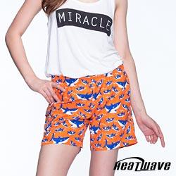 Heatwave熱浪 女海灘褲-橘晴藍鯊