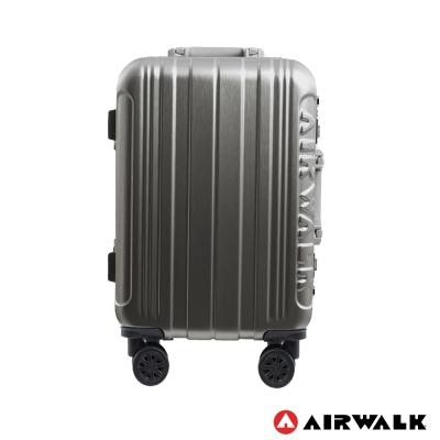 AIRWALK LUGGAGE - 金屬森林 鋁框行李箱 20吋ABS+PC鋁框箱-碳鑽灰