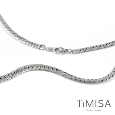 TiMISA《女神蛇紋 (細版)》純鈦項鍊