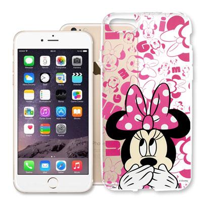 迪士尼 iPhone 8/iPhone 7 大頭透明軟性手機殼(摀嘴米妮)