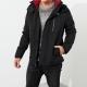 HCO Hollister 年度熱銷經典印刷標誌鋪棉連帽風衣外套-黑色 product thumbnail 1