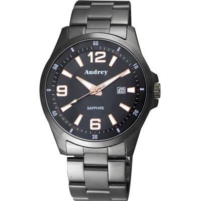Audrey 歐德利 薄型設計紳士腕錶(AUGM2593)-黑/42mm