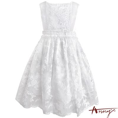 Annys超氣場精緻手工蕾絲透紗禮服*7106白