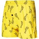 SOLIS 線條長頸鹿系列寬鬆四角男褲(鵝黃色)