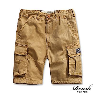 ROUSH 基本款高磅數多口袋水洗短褲 ( 6 色)