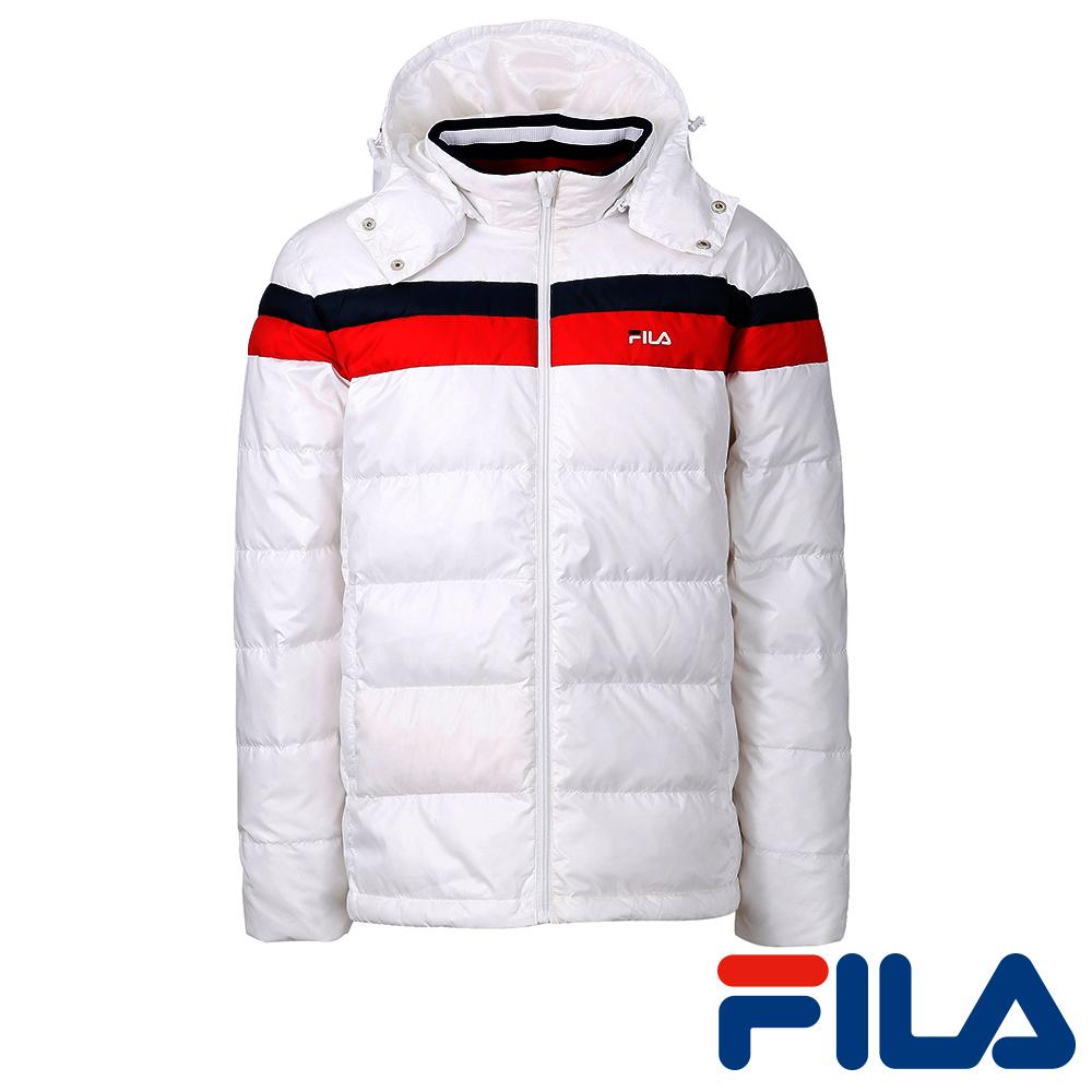 FILA男仕羽絨外套-純淨白1JKQ-5407-WT